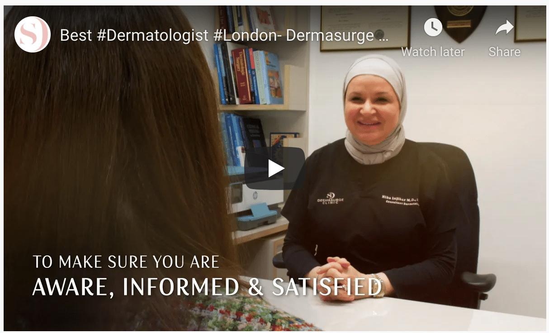 best london dermatologist youtube video