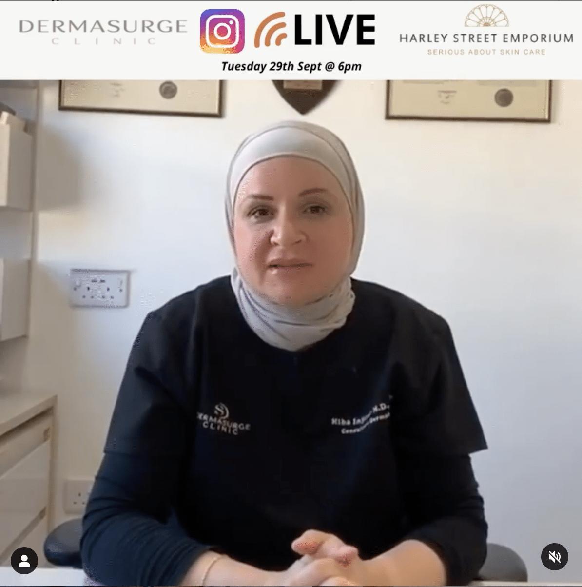 Melasma instagram live talk